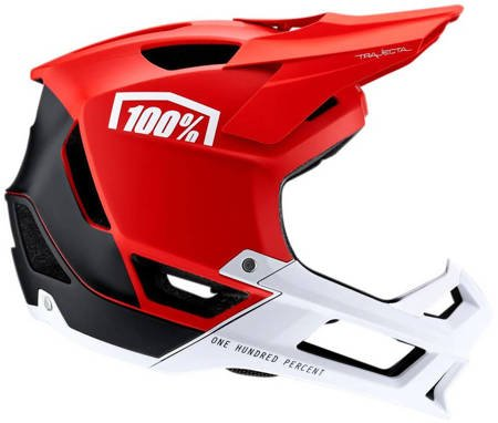 Kask full face 100% TRAJECTA red
