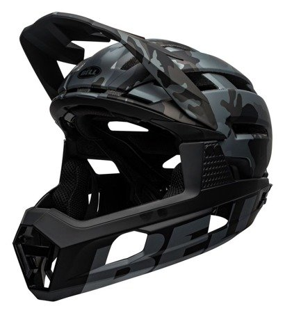 Kask full face BELL SUPER AIR R MIPS matte gloss black camo