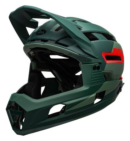 Kask full face BELL SUPER AIR R MIPS matte gloss green infrared