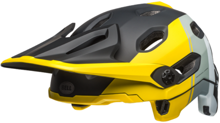 Kask rowerowy BELL Super DH MIPS yellow silver black